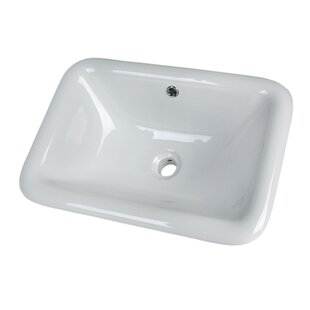 Bargain Vitreous China Rectangular Drop-In Bathroom Sink with Overflow By D'Vontz