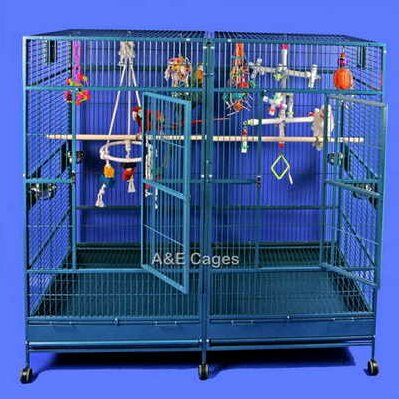 Enormous Double Macaw Bird Cage by A&E Cage Co.