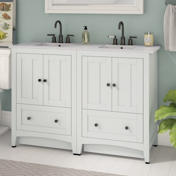 Artic 48 Double Bathroom Vanity Set by Longshore Tides