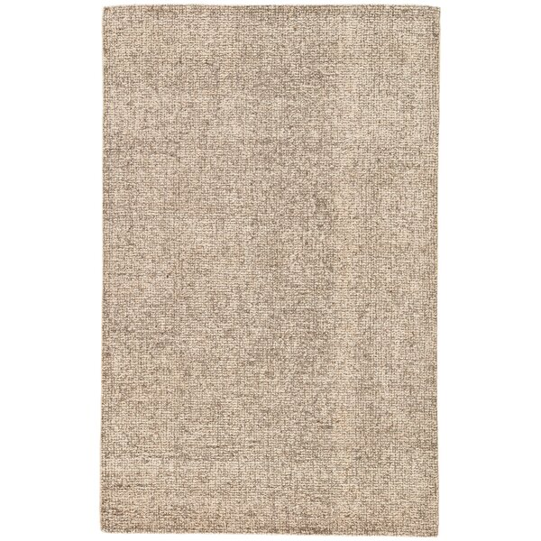 California Bay Hand-Woven Wool Taupe/Ivory Area Rug by Gracie Oaks