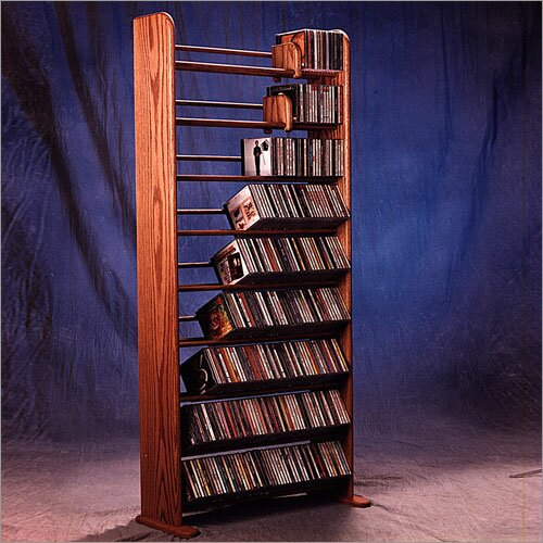Deluxe 504 CD Multimedia Storage Rack by Wood Shed