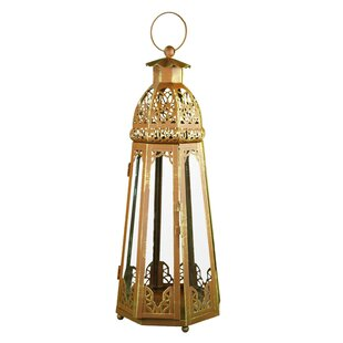 Great choice Metal and Glass Lantern By Bloomsbury Market