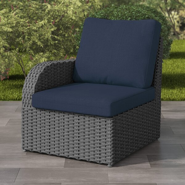 Killingworth Weather Resistant Resin Wicker Patio Left Arm Chair with Cushions by Rosecliff Heights