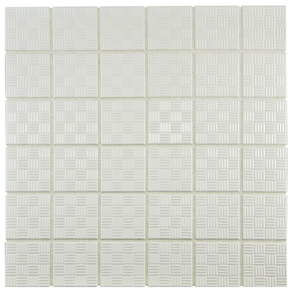 Passero 1.75 x 1.75 Porcelain Mosaic Tile in White by EliteTile