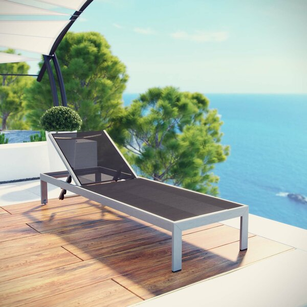 Contemporary Outdoor Patio Chaise Lounge by Orren Ellis