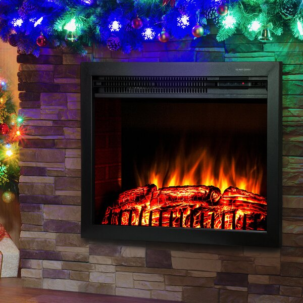 Wood Burning Electric Fireplace Insert by AKDY