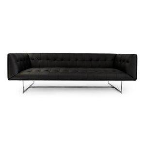 Edward Mid Century Modern Leather Chesterfield Sofa