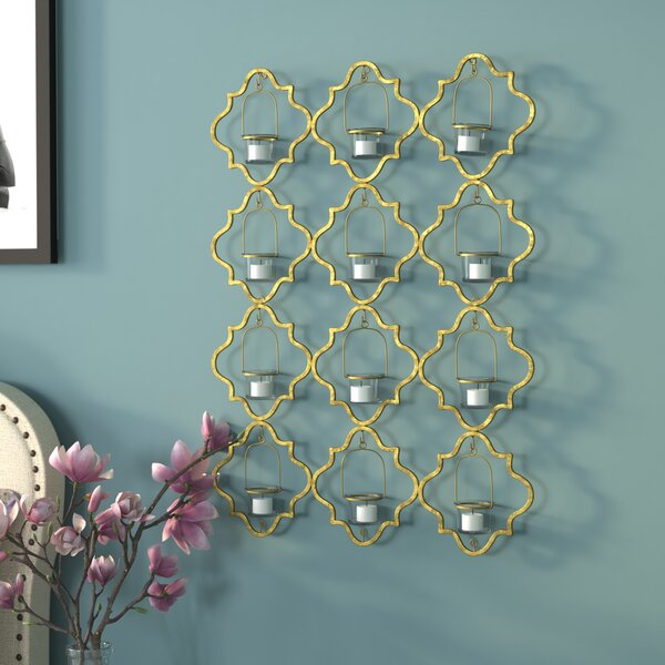 Candle Holder Backdrop Wall Décor by House of Hampton