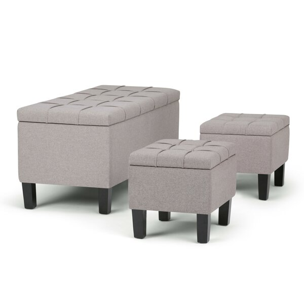 Dover 3 Piece Storage Bench by Simpli Home