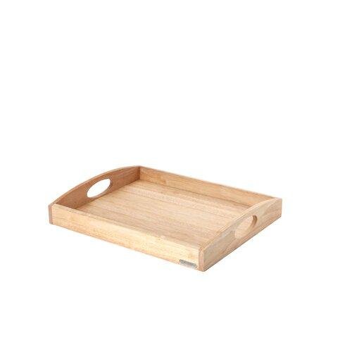 Tablett rechteckig Classic aus Gummibaumholz in Natur Continenta Größe: 50 x 39cm | Dekoration > Aufbewahrung und Ordnung > Schalen | Continenta