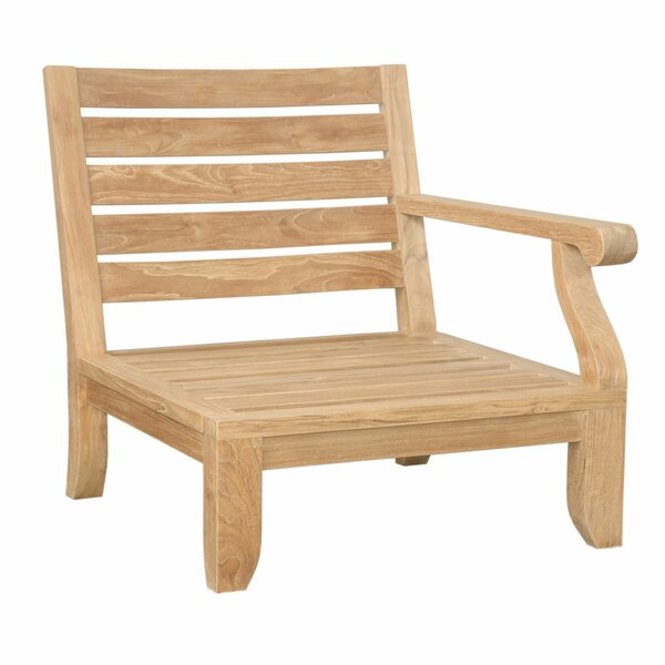 Riviera Luxe Teak Left Arm Patio Chair with Sunbrella Cushions by Anderson Teak
