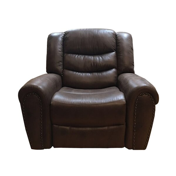 Puello Leather Manual Glider Recliner [Red Barrel Studio]