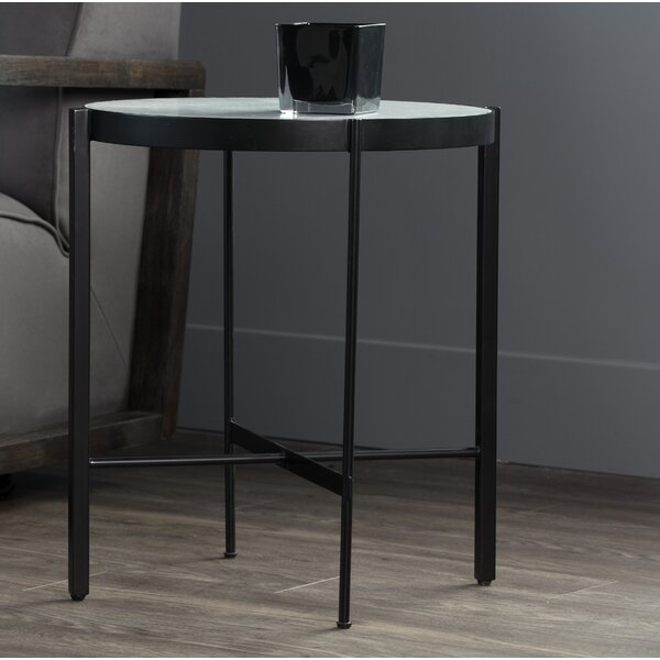 Willem Marble End Table by Sunpan Modern