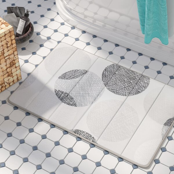 Waveside Reversible Memory Foam Bath Rug by Beachcrest Home