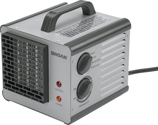 1,500 Watt Portable Electric Fan Compact Heater by Broan