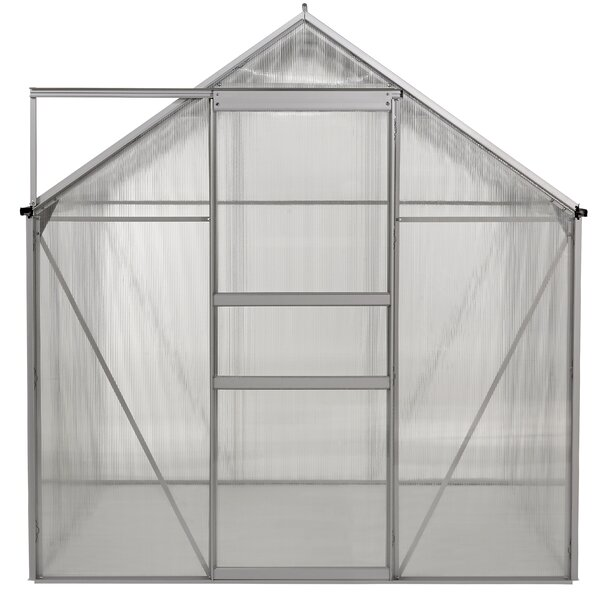 Aluminum Walk-in 6 Ft. W x 6 Ft. D Greenhouse with Double Roof Vent by OGrow