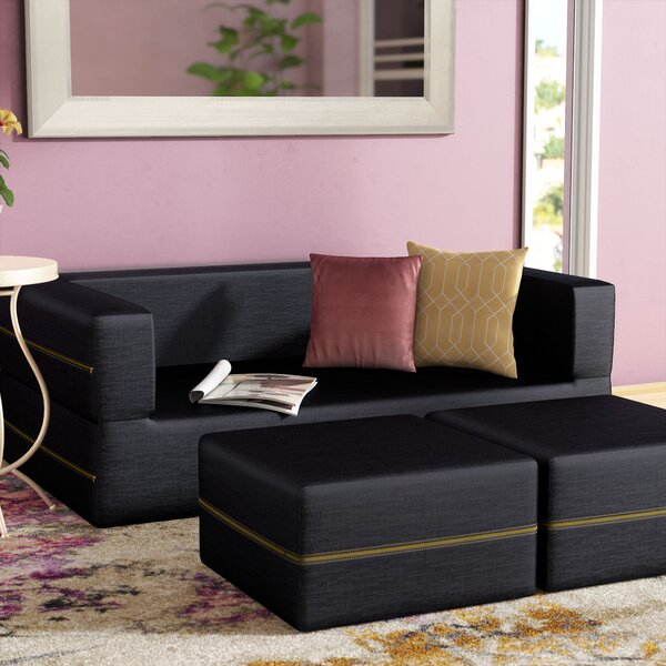 Top Brand Eugene Denim Sofa Bed by Zipcode Design by Zipcode Design