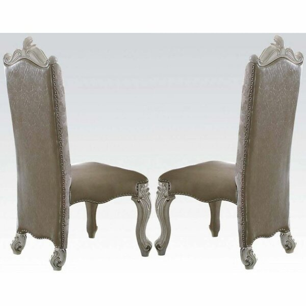 Wesner Upholstered Manufactured Wood Side Chair in White (Set of 2) by Rosdorf Park Rosdorf Park