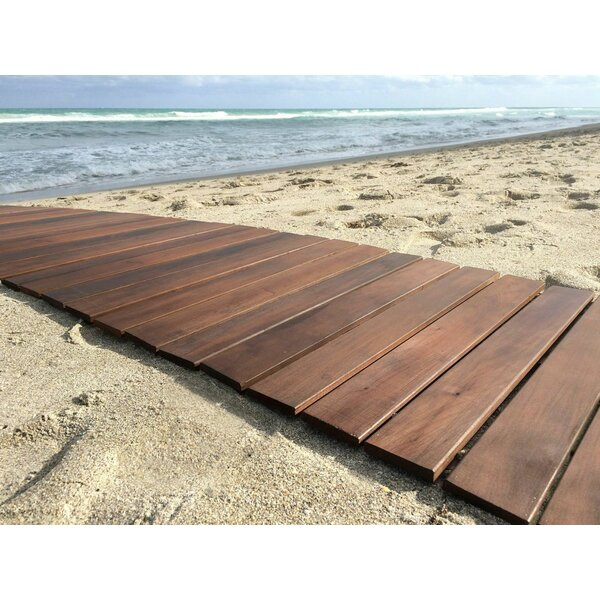 Indoor/Outdoor 24 x 36 Wood Deck Tile in Oiled by