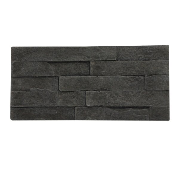 Rock Valley Random Sized 11 x 5 Engineered Stone Subway Tile in Charcoal (Set of 10) by Stone Design