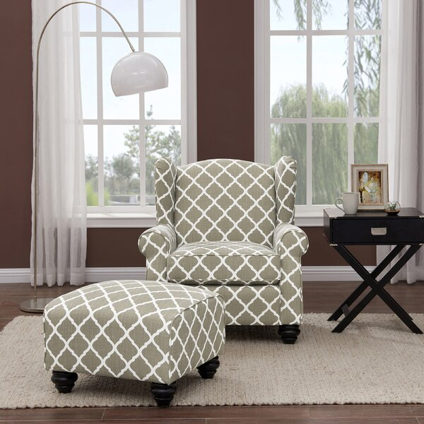 Roselle Armchair and Ottoman by Alcott Hill