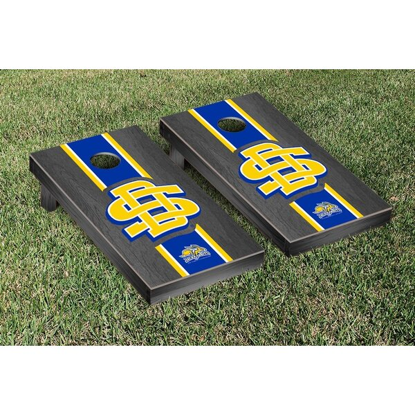 South Dakota State University Jackrabbits Stained Stripe Logo Version Cornhole Game Set by Victory Tailgate