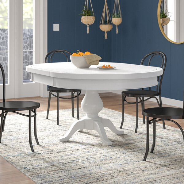 Zeinab Extendable Solid Wood Dining Table by Beachcrest Home