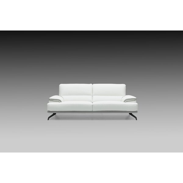 Chesterle Leather Sofa by Orren Ellis