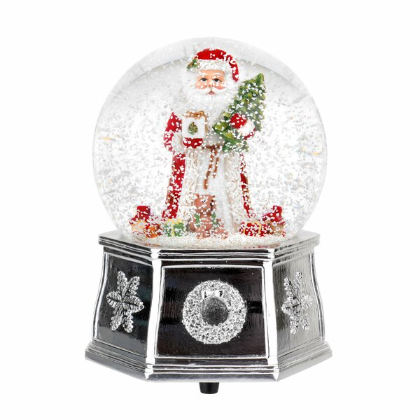Christmas Tree Santa Snow Music Globe by Spode