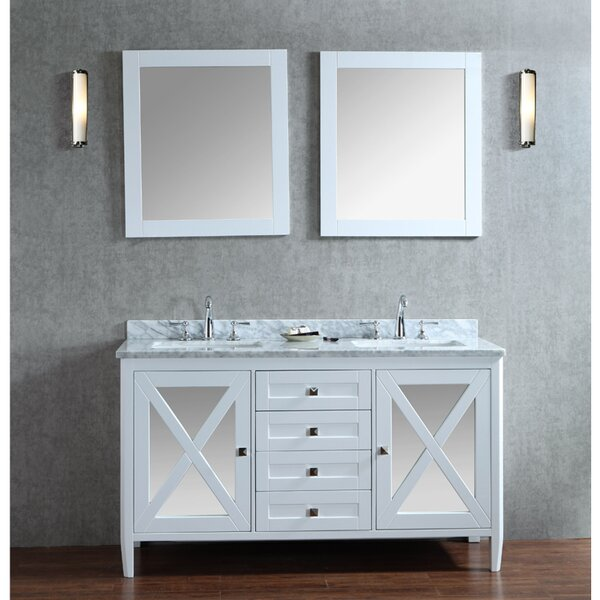 Summit 60 Double Bathroom Vanity Set with Mirror by Ariel Bath