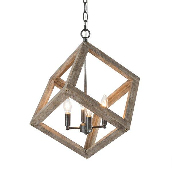 Dotir 4 - Light Unique Rectangle Chandelier by Gracie Oaks Gracie Oaks