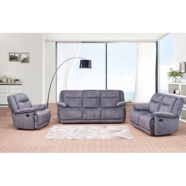 Downie Reclining 3 Piece Living Room Set by Red Barrel Studio