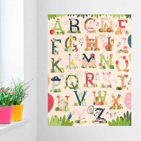 Sweet ABC Vertical by Sofia Cardoso Wall Mural by Oopsy Daisy