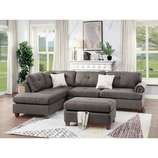 Burkhalter Reversible Sectional With Ottoman By Winston Porter