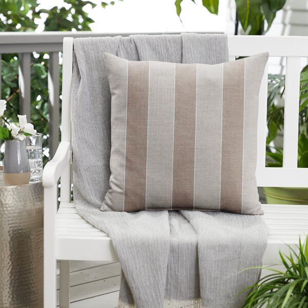 Outdoor Striped Throw Pillow