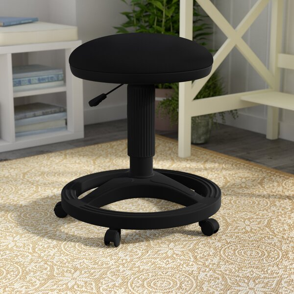 Gutierres Height Adjustable Stool with Footring by Alcott Hill