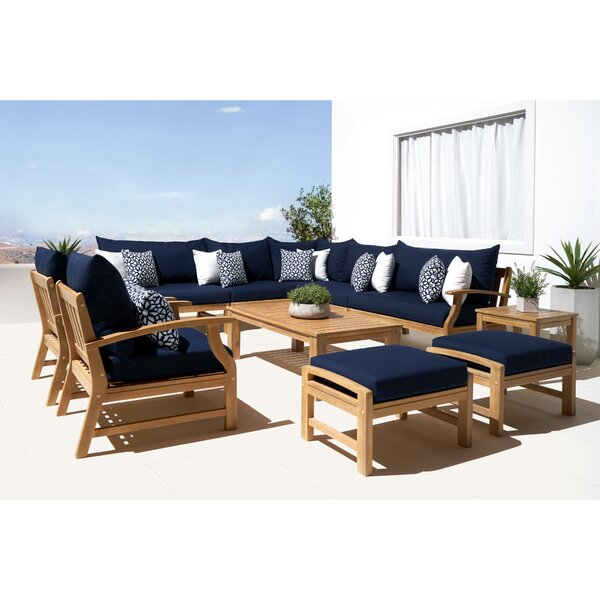 Mcclellan 11 Piece Sunbrella Seating Group with Cushions by Rosecliff Heights