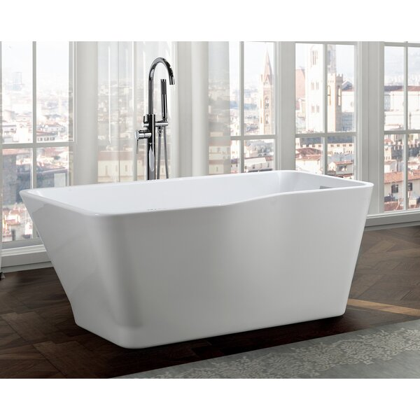 Florence 59 x 31 Freestanding Soaking Bathtub by Bellaterra Home