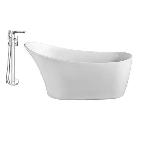 59 x 28 Freestanding Soaking Bathtub by Wildon Home ®