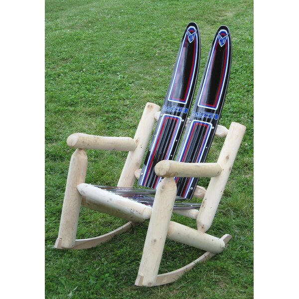 Water Wood Rocking Adirondack Chair by Ski Chair
