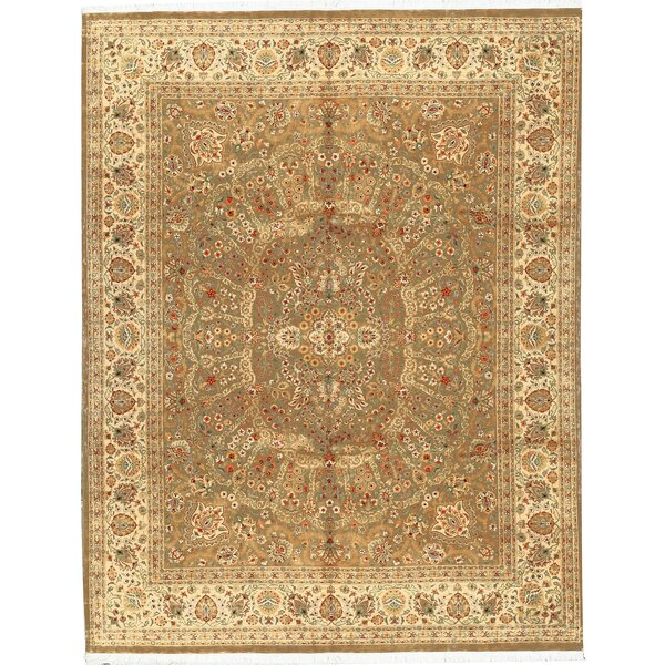 One-of-a-Kind Hand-Knotted Wool Brown/Gold Area Rug by Bokara Rug Co., Inc.