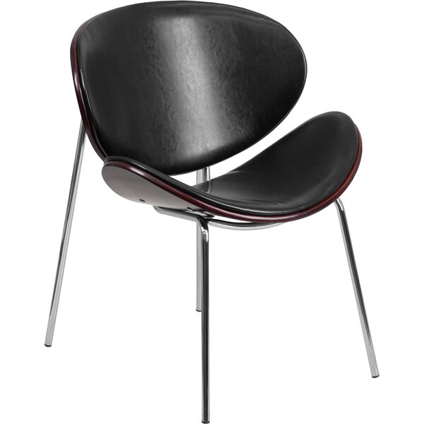 Braithwaite Reception Leather Guest Chair by Ebern Designs
