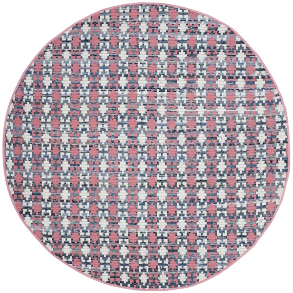Saleem Hand-Woven Coral Area Rug by Bungalow Rose