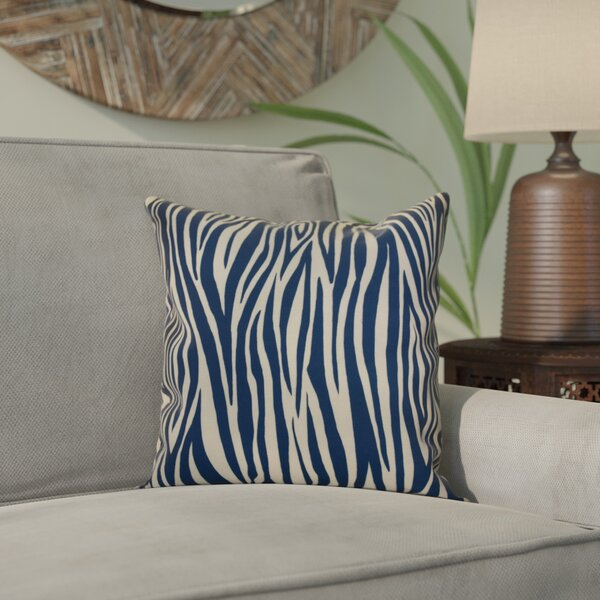 Kam Wood Striped Geometric Throw Pillow by Bloomsbury Market