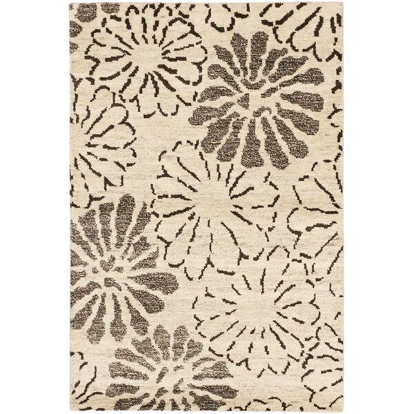 Dothan Hand-Knotted Cream Area Rug by Red Barrel Studio