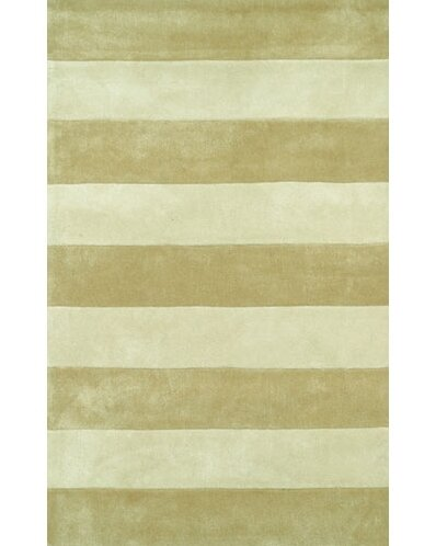 Beach Sand/Ivory Boardwalk Stripes Area Rug by American Home Rug Co.