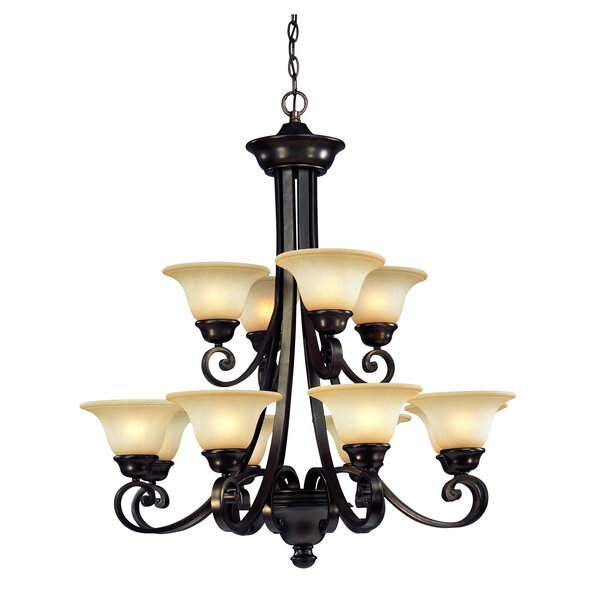 Brittany 12-Light Shaded Chandelier by Dolan Designs
