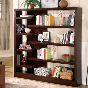 Winterville Asymmetrical Wooden Standard Bookcase Brayden Studio