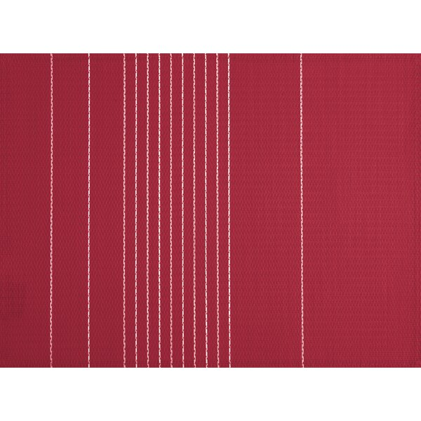 Ziczac Stripe Seamed Placemat (Set of 6) by Tiseco