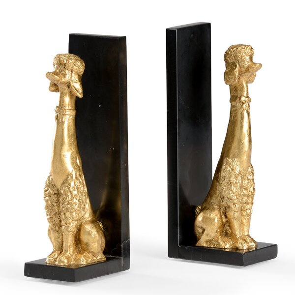 Fancy Dog Bookends by Wildwood